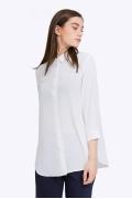 Белая офисная блузка с рукавами 3/4 Emka B2198/jessica