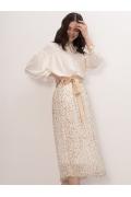 Лёгкая летняя юбка А-силуэта Emka S522/smet