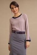 Розовая блузка с контрастной отделкой Emka B2427/azarena