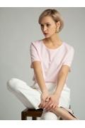 Розовая блуза спортивного кроя Emka B2559/blanc