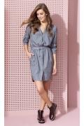 Серое платье рубашечного кроя Zaps Anita