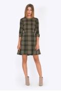 Приталенное платье с расклешенной юбкой Emka PL739/moss