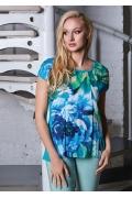 Летняя блузка из вискозы TopDesign A8 048