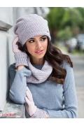 Женская розовая шапка с люрексом Kamea Maria