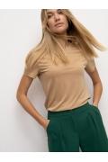Трикотажная футболка бежевого цвета Emka B2636/kleo