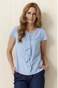 Голубая блузка с жабо Sunwear Y30-3-15