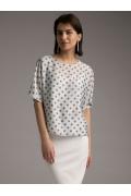 Свободная блуза в горох Emka B2415/lukas