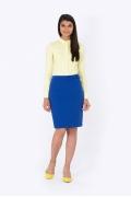 Офисная юбка синего цвета Emka Fashion 614-suriya