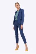Синие женские брюки зауженные книзу Emka D021/selvi