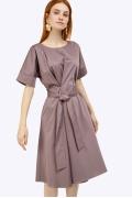 Платье цвета мокко А-силуэта Emka PL788/island
