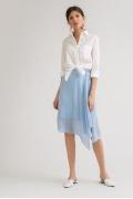 Летняя юбка голубого цвета в полоску Emka S819/kosmos
