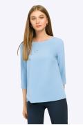 Светло-голубая блузка с рукавами 3/4 Emka B2354/largina