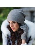 Женская шапка серого цвета Kamea Penelopa