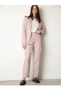 Зауженные брюки пыльно-розового оттенка Emka D168/wind