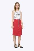 Красная юбка с запАхом Emka S757/luminous