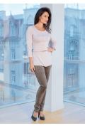 Женская блузка с ремешком TopDesign A7 140