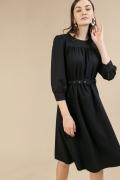 Тёмно-синее платье-миди Emka PL847/lorita