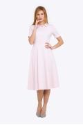 Розовое платье с рубашечным воротом Emka PL-572-1/djuana