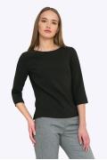 Чёрная универсальная блузка Emka B2204/premiera