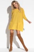 Женская туника жёлтого цвета Fobya F559
