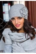 Женская шапка серого цвета Kamea Giovana