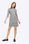 Короткое платье в клетку гленчек Emka PL873/torenia