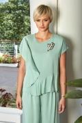 Летняя блузка мятного цвета Flaibach 025S9