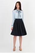 Чёрная юбка-полусолнце Emka Fashion 552-shelbi