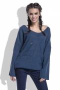 Женский свитер синего цвета Fobya F439
