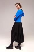 Чёрно-синее платье с капюшоном TopDesign B7 070