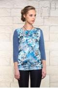 Женская голубая блузка BravISSImo 171158