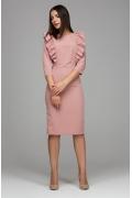 Платье-футляр с декоративными воланами Donna Saggia DSP-295-82