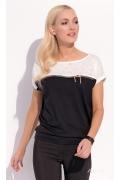 Двухцветная блузка Zaps Renna