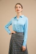 Женская рубашка голубого цвета Emka B2348/talisman