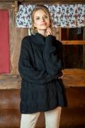 Чёрный свитер оверсайз Fobya F616