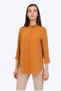 Лёгкая блузка цвета оранжевого топаза Emka B2198/samuila