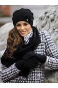 Женская шапка чёрного цвета Kamea Abella