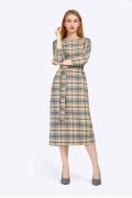 Женское клетчатое платье с поясом Emka PL698/gashina