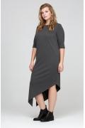 Осеннее платье с асимметричным низом Donna Saggia DSPB-21-74t