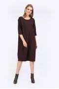 Тёмно-бордовое платье-миди Emka PL845/avalon
