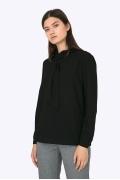 Чёрная блузка с воротником-шалью Emka B2276/avelina