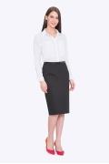 Стильная чёрная офисная юбка Emka 662/binazir