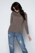 Женский светло-коричневый свитер Fobya F486