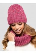 Женская шапка малинового цвета Kamea Gijon