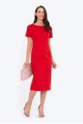 Красное платье-футляр Emka PL-589/aglaya