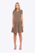 Коричневое платье Emka Fashion PL-454/mensi