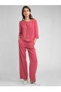 Розовые малиновые брюки на резинке Emka D144/rikara