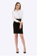 Зауженная юбка черного цвета Emka S718/milisa