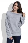 Женский свитер серого цвета Fimfi I212