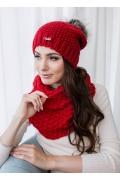 Женская шапка крупной вязки Veilo 32.84 (8 цветов)